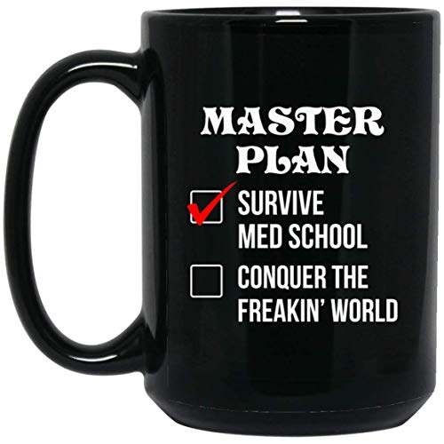 Master Plan Survive Med School Medical Doctor Mug - NovaStar Mug Gifts -