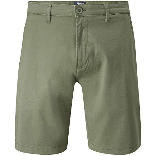 Charles Wilson Men's Comfort Stretch Chino Shorts (Green Khaki, 29