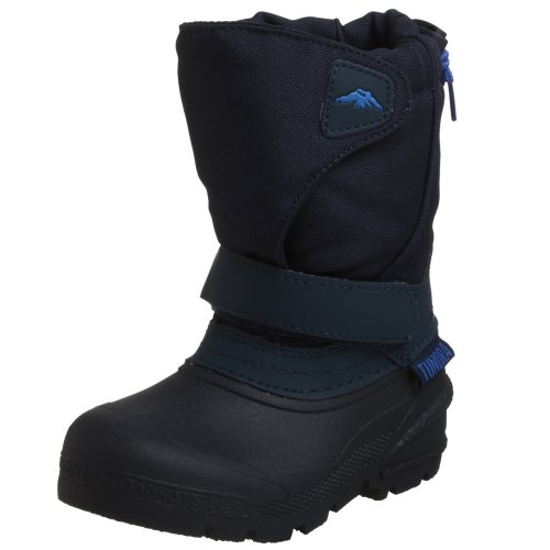 Tundra Kids Quebec Child Winter Boots, Navy, 9 M US Toddler