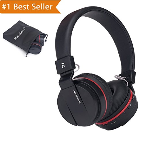 Active Noise Cancelling Wired/Wireless Bluetooth Headphones with Mic,Monodeal Foldable on the Ear Headset ,Soft Memory-Protein Earmuffs,Hi-Fi Stereo Headset for PC/ Cell Phones/ TV-Mother'S Day Gift