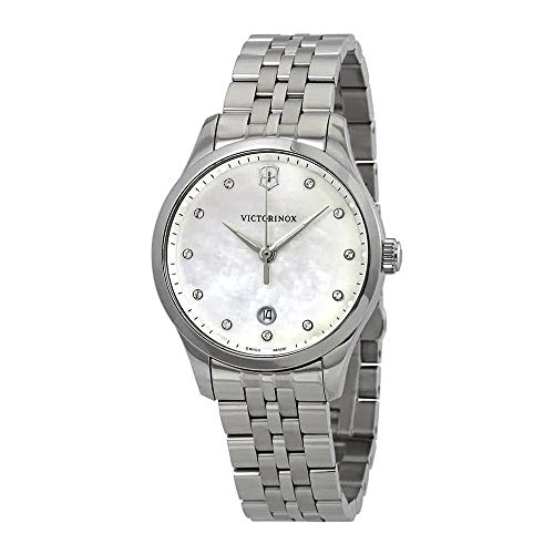 (Victorinox Alliance Small Crystal White Mother of Pearl Dial Ladies Watch 241830)
