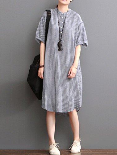MatchLife - Vestido - vestido - para mujer Style1-Blue