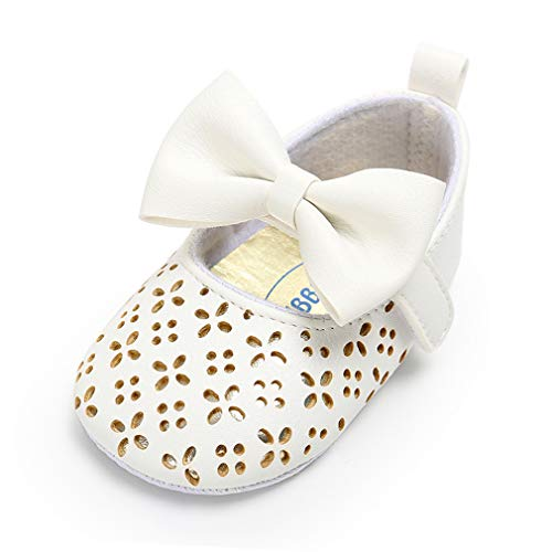 Royal Victory Baby Girls Shoes PU Soft Sole Bow Prewalker 0-18 Months -