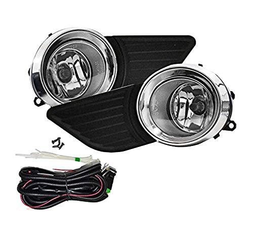 (Remarkable Power FL7115 Fit For 2011-2017 Toyota Sienna Black Bezel Fog Light Kits )