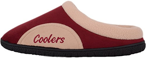 Scarpe Da Uomo Assolute Slip On Mules / Slippers / Indoor Shoes Con Fodera In Pile Bordeaux