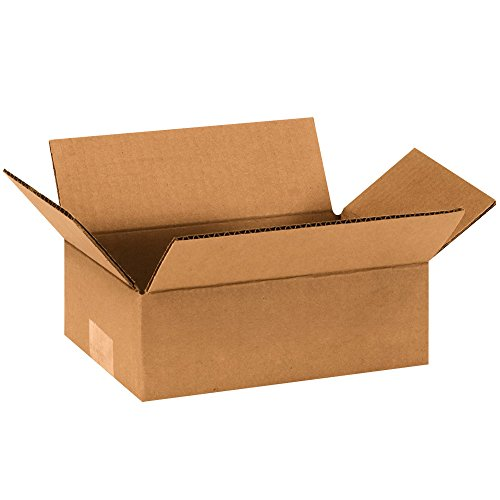Partners Brand P963 Flat Corrugated Boxes, 9'' L x 6'' W x 3'' H, Kraft (Pack of 25) by Partners Brand
