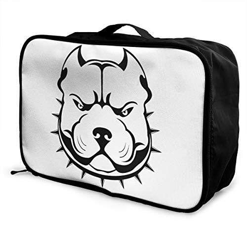 American Bully Lightweight Large Capacity Portable Luggage Bag Fashion Travel Duffel Bag