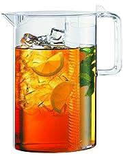 Bodum Ceylon Ice Tea jug with Filter, 3.0 l, 101 oz, 3 Litre, Clear