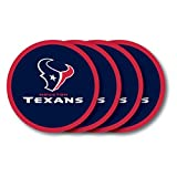 NFL Houston Texans Vinyl Coaster Set (Pack of 4)