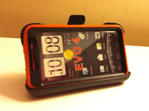 032884172047 - New Defender Case for Htc Evo 4g with Hip Holster That Doubles As a Media Stand Generic Otterbox Defender Series carousel main 3