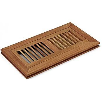 4 X 10 Inch Santos Mahogany Wood Flush Mount Floor