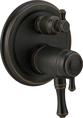 Delta Faucet T27T897-RB Cassidy Traditional TempAssure 17T Series Valve Trim with 3-Setting Integrated Diverter, Venetian Bronze