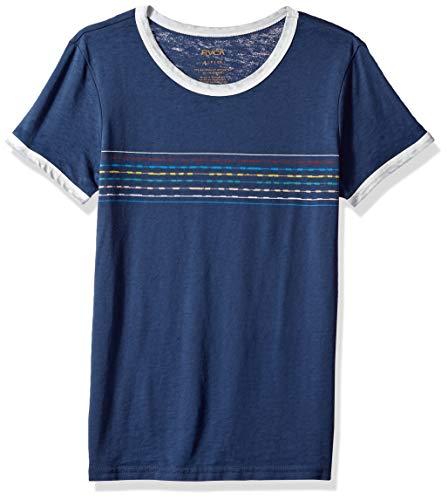 RVCA Women's Double Vision Short Sleeve Burnout Crew Neck T-Shirt, Navy, S
