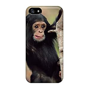 Iphone 5/5s Case Cover Skin : Premium High Quality Monkey Hanging Case