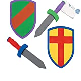 Bargain World Foam Swords And Armor Sets (With Sticky Notes)