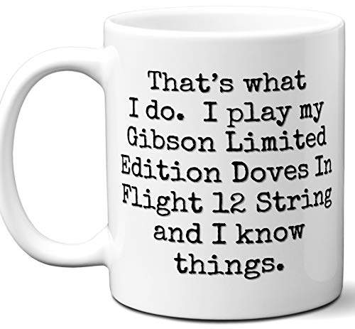 - Guitar Gifts Mug. Gibson Limited Edition Doves In Flight 12 String Guitar Players Lover Accessories Music Teacher Lover Him Her Funny Dad Men Women Card Pick Musician Acoustic Unique