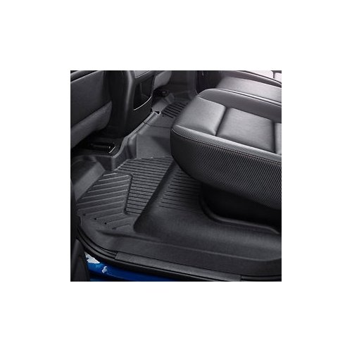 (General Motors Second-Row Interlocking Floor Liner in Jet Black)