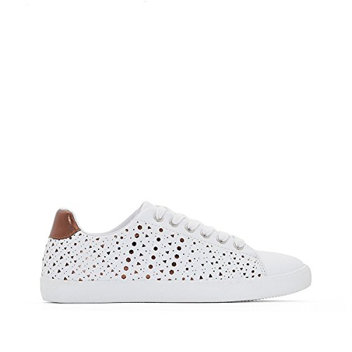 La Redoute Collections Frau Sneakers mit Perforiertem Muster Gre 42 Weiss