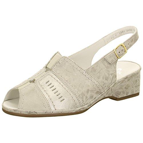 Sandale 17 Sasso Femme ara étain 12 Beige pour 37039 fYxqxwdXa