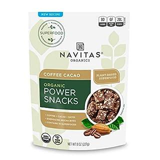 Navitas Organics Superfood Power Snacks, Coffee Cacao, 8oz. Bag — Organic, Non-GMO, Gluten-Free, 11 Servings