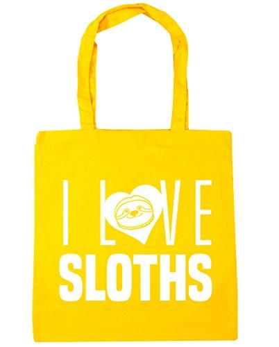 HippoWarehouse Bag x38cm Tote Gym litres Yellow Sloths 10 Shopping Love 42cm Beach I 06nrZz0