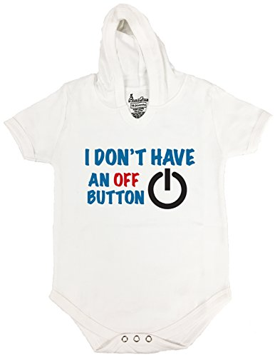 4 HOODIE BABY ROMPER SHORT SLEEVE ONESIE UNISEX FUNNY I DON'T HAVE GIFT POLY BAGGED A&G BRAND (0-6 Months, (Juegos De Top Baby Games Halloween)