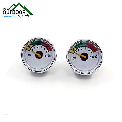 Psi Gauge Paintball (FidgetGear A Lots of 2X 5000 PSI Paintball Mini Micro Air Co2 Pressure Gauge 1/8NPT Threads)