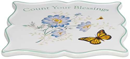 - Lenox Butterfly Meadow Sentiment Trivet,