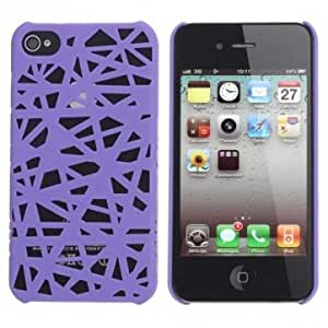 Bird's Nest Pattern Plastic Protector Case Cover For iPhone 4 4S --- Color:White -Motif