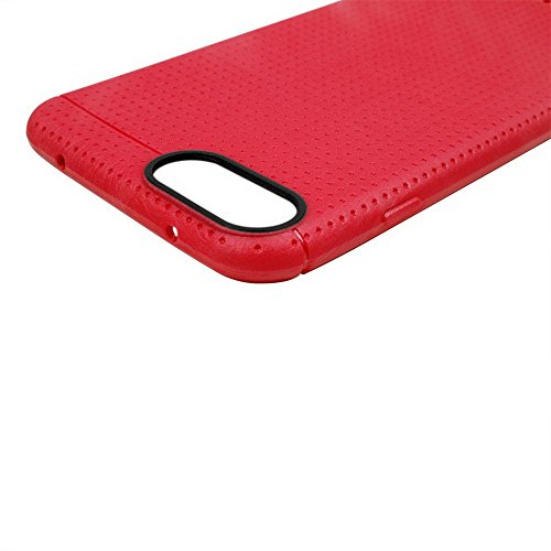Apple iPhone 7Sac étui Cover Case de protection TPU/Grip Rouge decui Rouge TPU Gel Gel Coque