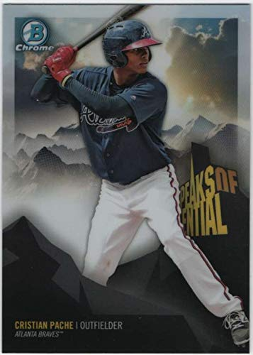 2018 Bowman Chrome Baseball Peaks of Potential PP-CP Cristian Pache Atlanta Braves Official MLB Trading Card (made by Topps Company)