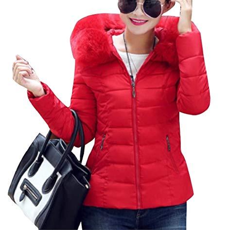 Thickened Red EnergyWomen Hoode Coat Size Warm Short Plus Jacket Cotton aqqxzwET