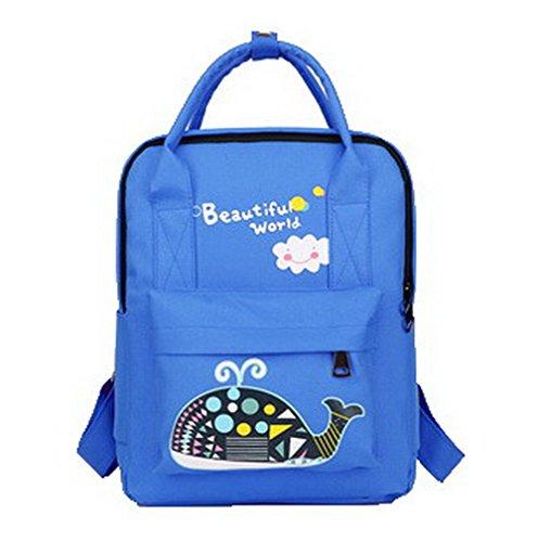 Sacs Bleu de à Randonnée VogueZone009 CCAFBP180999 Femme Daypack Dos Daypacks Nylon Mode Zippers aC0T7