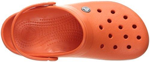 Crocs Crocband Clog, Zuecos con Correa, Unisex Tangerine/White