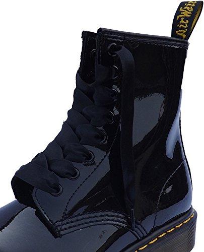 White Black Satin Ribbon Laces Bootlaces Fits 3 6 8 10 Pair Eyelet Boots/ Shoes Shoe Laces