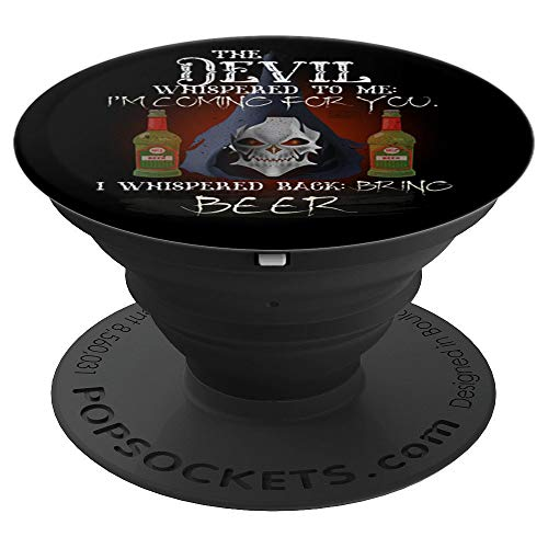 COOL GRUNGE BEER DEVIL WHISPERED BRING ALCOHOL - PopSockets Grip and Stand for Phones and Tablets