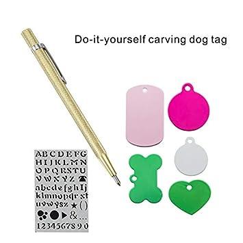 KSZ DIY Do It Yourself - Placa identificativa para Mascotas ...