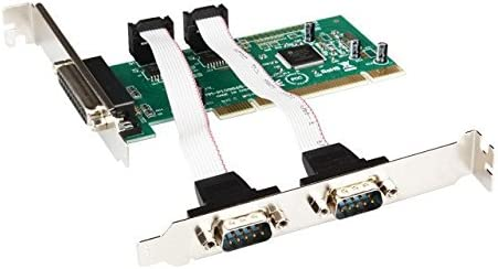 RS-232 Ports PCI Controller Card 9865 chip Industrial Multiport Serial + 1 DB-25 Parallel Printer LPT1 HD Combo 2 DB-9 Serial