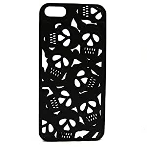 SHOUJIKE 3D Hollow Out Anaglyph Stereoscopic Skull Phone Cases for iPhone 5/5S(Assorted Color) , White