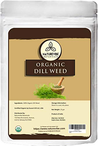 Naturevibe Botanicals Organic Dill Weed, 25gm | Non-Gmo and Gluten Free | Indian Seasoning | Adds Flavor