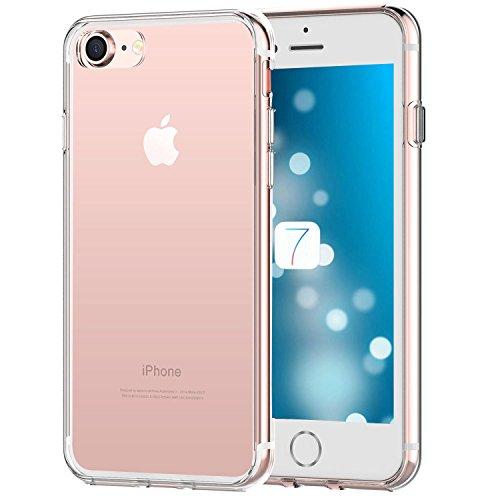 iPhone 8 coque, iPhone 7 coque - iHarbort iPhone 7/ 8 Case Cover Housse etui avec transparent TPU doux matériel avec protecteur d'écran ,Transparent