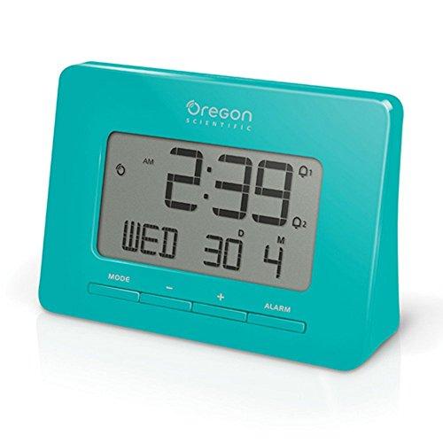 oregon scientific rm938 gray dual alarm atomic time calendar with snooze weather clocks. Black Bedroom Furniture Sets. Home Design Ideas