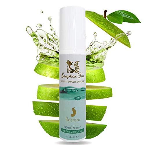 Organic Face Cream Anti Aging Vitamin C Face Moisturizer - Apple Stem Cell Anti Aging Skin Care Facial Moisturizer for Men & Women - Sensitive, Oily, Dry, All Skin Types - Acne, Wrinkles, Sun Spots