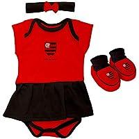 Kit Flamengo Body Menina Torcida Baby