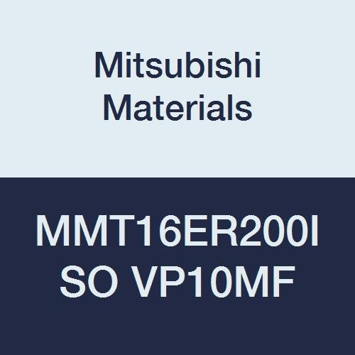 Mitsubishi Materials MMT16ER200ISO VP10MF MMT Series Carbide G-Class External Ground Threading Insert Grade VP10MF Right Pack of 5 ISO Metric Type 9.525 mm IC 2.0 mm Pitch