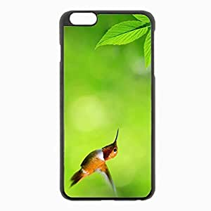 iPhone 6 Plus Black Hardshell Case 5.5inch - hummingbird fly swing Desin Images Protector Back Cover
