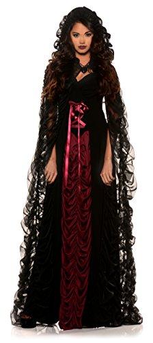 Underworld Vampire Halloween Costume (Underwraps Women's Gothic Victorian Vampire Costume - Midnight)