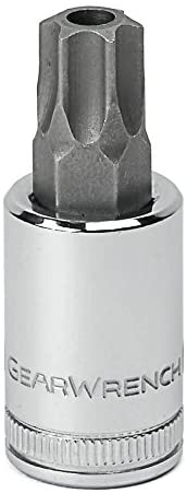 GEARWRENCH 1//4 Drive Tamper-Proof Torx Bit Socket T15-80181