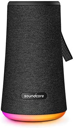 Soundcore Flare Portable 360 Bluetooth Speaker by Anker, Huge 360 Sound, IPX7 Waterproof, Bigger Bass, Ambient LED Light, 20-Hour Playtime, 4 Drivers with 2 Passive Radiators, Speaker for Parties
