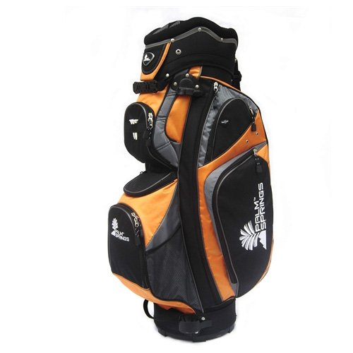 PALM SPRINGS GOLF Orange/Silver 14 Way Full Length Divider Cart Bag by Palm Springs